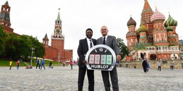 Pele and Ricardo Guadalupe, CEO of Hublot