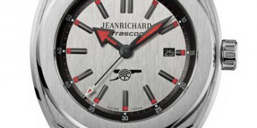 Housed in a steel case with vertically satin-finished grey dial illuminated by touches of red - the colour of the club's famous emblem. The Arsenal logo, a canon, is printed at 6 o'clock.