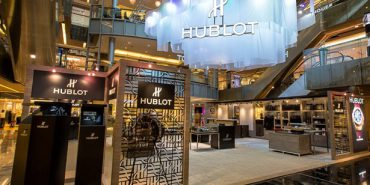 Standing at a commanding 6.5metres tall, Hublot nation is an inspired interplay of illuminations