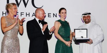 Emily Blunt Presents IWC Filmmaker Award To Abdullah Boushahri.