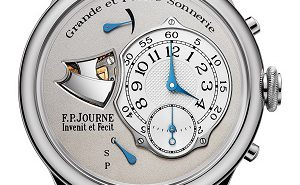 The F.P. Journe Sonnerie Souveraine is produced in steel because steel transmits sound much better than gold or platinum.