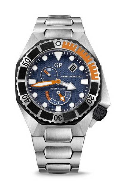 Guaranteed water-resistant up to a depth of 1,000 meters, it meets the requirements set by the international standard ISO 6425 for diving watches.