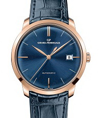 The Girard-Perregaux 1966 in pink gold with striking blue dial.