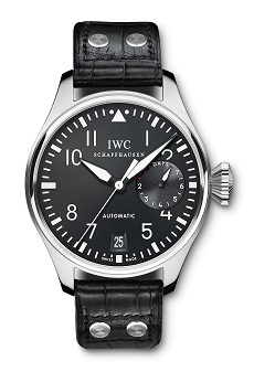 The IWC Big Pilot watch has an in-house automatic movement that contains over a week of power reserve.