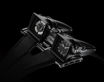 The MB&F HM4 Final Edition closes the HM4 series in 2013 with a limited edition of 8 pieces in blackened titanium and sapphire.